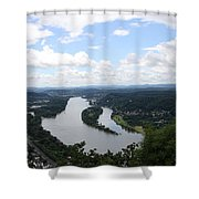 Island Nonnenwerth With Cloister Shower Curtain
