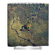 Island Of Fall Color Shower Curtain