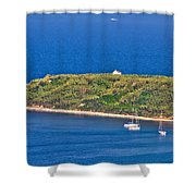 Island Of Susak Cape Church Shower Curtain