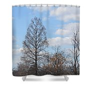 Island Of The Black-crowned Night Heron Shower Curtain