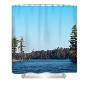 Island On The Fulton Chain Of Lakes Shower Curtain