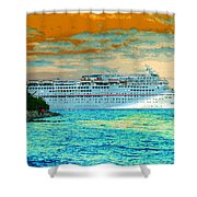 Island Passage Shower Curtain