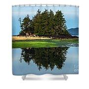 Island Reflection Shower Curtain