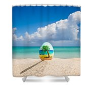 Island Style Easter Egg Shower Curtain
