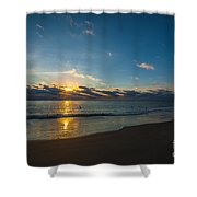 Coastal Beach Sunrise Shower Curtain