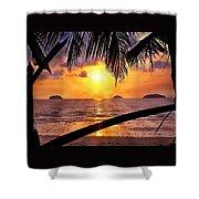 Island Sunset Shower Curtain