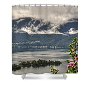 Islands And Flowers Shower Curtain
