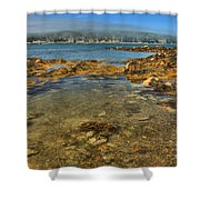 Isle Au Haut Beach Shower Curtain by Adam Jewell