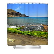 Isleta Del Moro Beach Shower Curtain