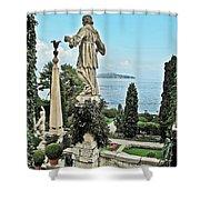 Isola Bella And Lake Maggiore Shower Curtain