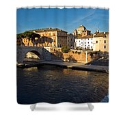 Isola Tiberina Shower Curtain