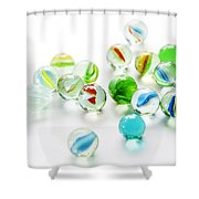 Isolated Marbles Shower Curtain