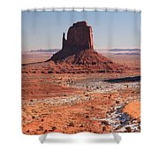 Isolated Mitten Shower Curtain