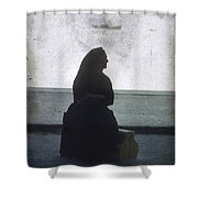 Isolated Woman Shower Curtain