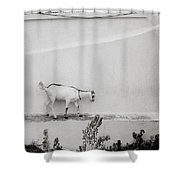 The Surreal Goat Shower Curtain