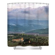 Israel Latron Monastery And Winery Shower Curtain