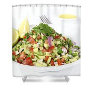 Israeli Salad  Shower Curtain
