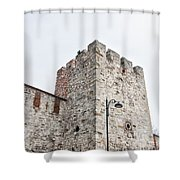 Istanbul City Wall 01 Shower Curtain