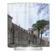 Istanbul City Wall 03 Shower Curtain