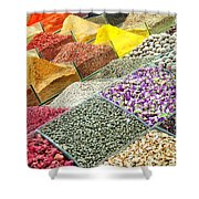 Istanbul Egyptian Spice Market 01 Shower Curtain by Antony McAulay