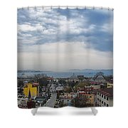 Istanbul Panorama Hdr Shower Curtain