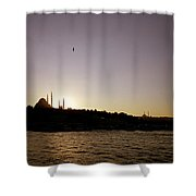 Istanbul Sunset Shower Curtain