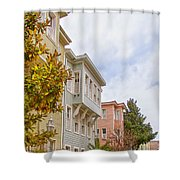 Istanbul Wooden Houses 01 Shower Curtain