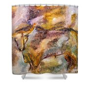 Istrian Bull -  Boshkarin Shower Curtain