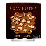It Computer Professional  Shower Curtain