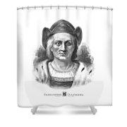 Italian Explorer Christopher Columbus Shower Curtain