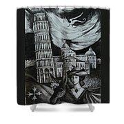 Italian Fantasies. Pisa Shower Curtain