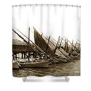 Italian Fishing Boats Fishermen's Wharf San Francisco Circa 1903 Shower Curtain