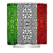 Italian Flag - Italy Stone Rock'd Art By Sharon Cummings Italia Shower Curtain