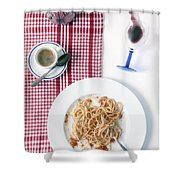 Italian Food Shower Curtain