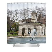 Italian Fountain In London Hyde Park Shower Curtain by Semmick Photo