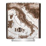 Italian Map Shower Curtain