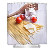 Italian Pasta Meal Shower Curtain