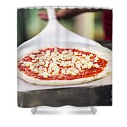 Italian Pizza Ready For The Oven Shower Curtain