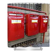 Italian Post Office Boxes Shower Curtain