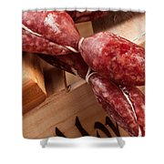 Italian Sausage Shower Curtain