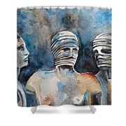 Italian Sculptures 03 Shower Curtain