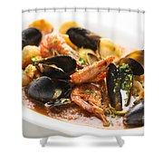 Italian Seafood Stew Shower Curtain