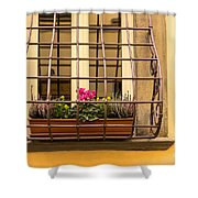 Italian Window Box Shower Curtain