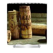 Italian Wine Corks Shower Curtain