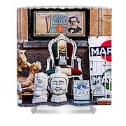 Italy Memorabilia Shower Curtain
