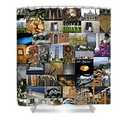 Italy Poster Shower Curtain