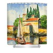 Italy - San Vigilio Shower Curtain