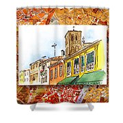 Italy Sketches Venice Via Nuova Shower Curtain