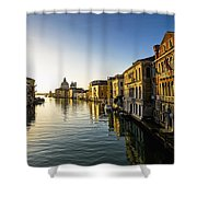 Italy, Venice, Buildings Along Canal Shower Curtain