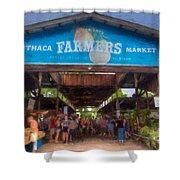 Ithaca Farmer's Market Shower Curtain